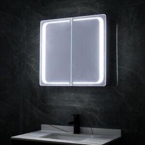 Bathroom LED Mirror Cabinet with Shaver Socket IR Sensor Demister Pad Bluetooth