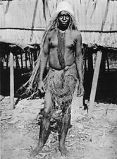 MELANESIA. Melanesia. Widow in Half-Mourning costume;  1900 old antique print