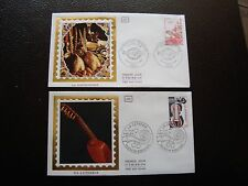 FRANCE - 2 enveloppes 1er jour 1979/1980 (gastronomie/lutherie) (cy99) french