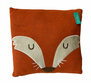 Target Pillow Fort Fox Face Square Throw Pillow Orange 14 x 14 Bedroom Youth