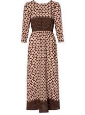 Polyester Boat Neck Geometric Regular Size Dresses for Women