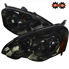 02-04 Acura Integra RSX DC5 Base Type S Smoked Tinted Headlight Assembly Amber