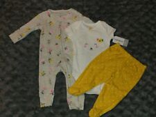 NWT Carters Baby Girl Clothes 3 Months Three Piece Lamb Sleeper Outfit Layette