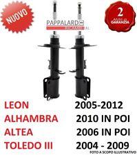 2 AMMORTIZZATORI ANTERIORI SEAT LEON ALHAMBRA ALTEA ALTEA XL TOLEDO III TDI TFSI