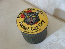 Vintage Halloween Cardboard Black Cat Noisemaker Squeaker Pocket Cat Cry Antique