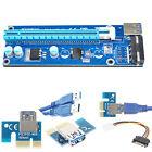 USB 3.0 PCI-E Express 1Xto16X Adaptador de tarjeta Riser de extensión SATA cable