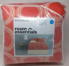 Room Essentials Queen Global Geo 8 Piece Comforter Sheet Set Bed in a Bag New