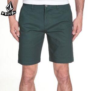 "VOLCOM Bermuda UOMO Short NEW Mens ""Frickin Tight"" Nuovo CHINO Skate EGR Green"