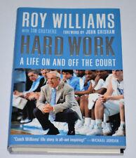 Roy Williams Signed 1st/1st HARD WORK Book UNC TARHEELS