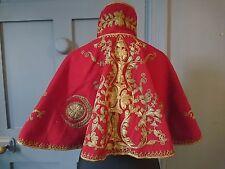 Superba 1890s Mano Ricamato Ottomano spalla Cape-Vittoriano Antico Fashion
