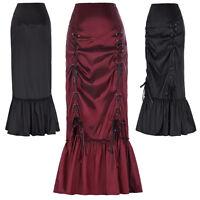 Black Skirt Fishtail Gothic Corset Long Mermaid Steampunk Vintage Victorian XL