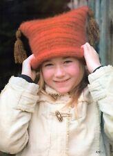 ~ Knitting pattern per bambino accogliente laminati Orlo Chunky Felted Hat ~