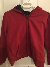Boys Ll Bean Fleece Lined Hoodie Size L. In Excellent Condition