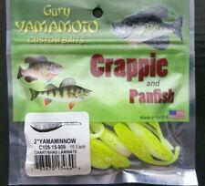 GARY YAMAMOTO CRAPPIE PANFISH 2 INCH MINNOW CHARTREUSE 3X 15 PACKS 45 SHADS