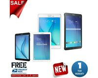 Samsung Galaxy Tab E 8.0in or 9.6in 16GB Black or White Wi-Fi +4G Android Tablet