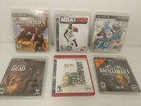 PS3 Lot 6 Games Uncharted 3, NBA 2K8, Madden13, Battlefield 3, Bad company