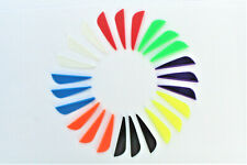 18 Arrow Fletchings - 1.75 inch plastic fletchings 8 colours to choose from