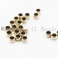 100 Pieces RAW Brass Spacer Beads - 4mm (326C-I-13X)