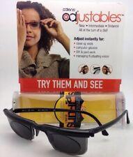 ADLENS SUNDIALS Adjustables Sunglasses Rx range +3.00 to -6.00 Black w/Grey Lens