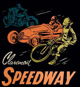 Claremont speedway  sticker decal