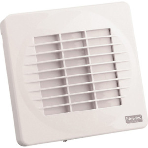 """Newlec 4"""" / 100mm Bathroom Extractor Fan with Timer and Automatic Shutters White"""
