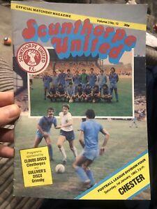 Scunthorpe United V Chester 1/1/83 Match Programme