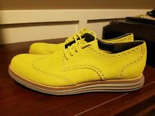 Cole Haan LUNARGRAND Wingtip Suede Oxford Shoes - Volt Green - C11500 -Size 10.5