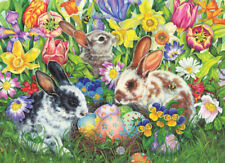 NEW! Cobble Hill Puzzles Easter Bunnies 500 piece rabbits jigsaw puzzle
