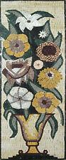 Dining Room Design Flower Vase Arch Art Home Decor Wall Marble Mosaic FL503