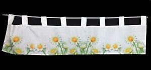 Bistrogardine 120 x 30 cm mit Schlaufen Kamillenblüten No. 914