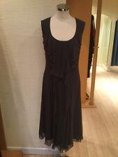 Stills Dress And Scarf Size 12 BNWT Mocha Brown Silk RRP £310 Now £139