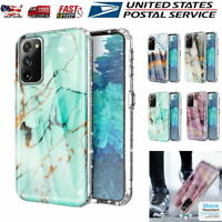 For Samsung Galaxy S20 FE 5G Case Geometric Marble Hybrid Shockproof Clear Cover