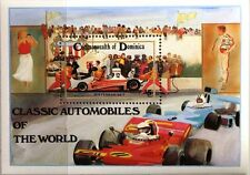 Dominica 1983 blocco 84 CAR AUTO motorizzata RACE CAR FERRARI 312 T automobile MNH