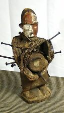 ANTIQUE 19c AFRICAN TRIBAL NKISI KONGO PEOPLE,DR CONGO FETISH POWER FIGURE #2
