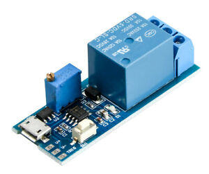 Timer Relay ON OFF Loop Modul Trigger Delay Relay Switch Micro USB DC 5V 12V 24V