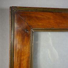 CADRE FIN XVIIIe PLACAGE NOYER   feuillure : 35 x 26 cm