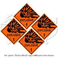 "EXPLOSIVE Explosion Danger Warning Safety Sign 50mm(2"") Vinyl Stickers-Decals x4"