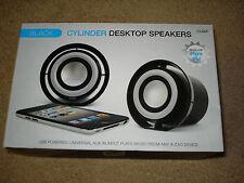 iwave Black Cylinder Desktop Speakers