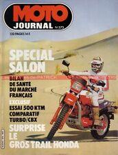 MOTO JOURNAL  573 HONDA CBX 1000 CX 500 Turbo ; KTM 500 ; Salon de PARIS 1982