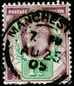 SG221, 1½d dull purple & green, FINE USED, CDS. Cat £20.