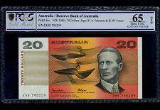 AUSTRALIA  20 DOLLARS ( 1985 ) PICK # 46e PCGS 65 GEM UNC OPQ.