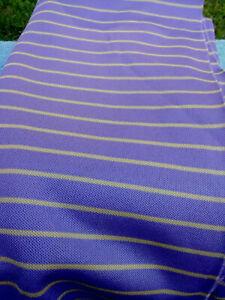 "Fabric Remnants Purple/Tan Stripe Stretch Polyester 1 2/3Yds x 68"""