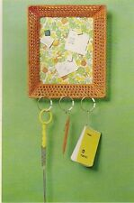 Vintage Square Macrame Bulletin Board - Craft Pattern #NB1 Knotty but Nice Book