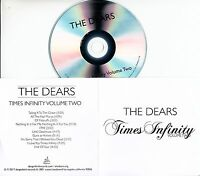 THE DEARS Times Infinity Volume Two 2017 UK 10-trk promo test CD