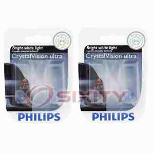 2 pc Philips Stepwell Light Bulbs for Rolls-Royce Ghost 2010-2020 Electrical bo