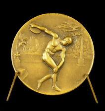 Médaille Lancer du disque sport Paul Perrin député  discus throw 42 mm Medal