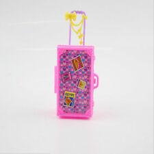 Kinder Spielzeug Plastik 3D Reise Koffer Gepäck Fall Trunk Für Barbie Puppe WH