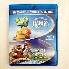 Rango/Yogi Bear (Blu-ray Disc, 2014, 2-Disc Set) Double Feature Blu Ray