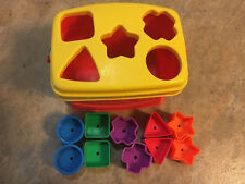 Fisher Price Brilliant Basics Baby First Blocks 10 Cubes Shape Sorter