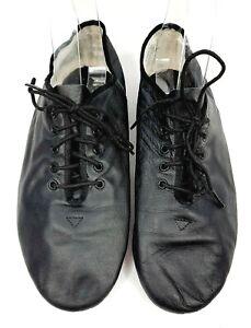Capezio Unisex Black Leather Lace Up Jazz Shoes Size 10 1/2 M F6